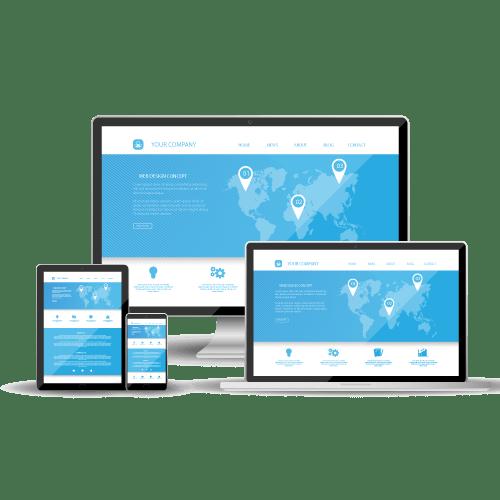 Diseño página web precios responsive